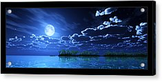 Under A Silvery Moon... Acrylic Print by Tim Fillingim
