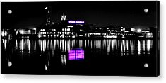 Under Amour At Night - Vibrant Color Splash Acrylic Print