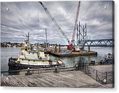 Under Construction Acrylic Print by Eric Gendron