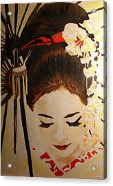 Under Cover Girl Acrylic Print by Lorinda Fore