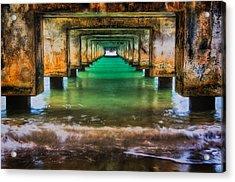 Under Hanalei Pier Acrylic Print