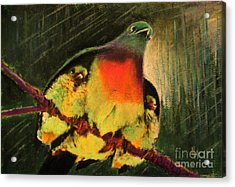 Acrylic Print featuring the painting Under His Wings by Hazel Holland