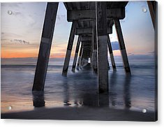 Under Johnnie Mercer's Pier Wrightsville Beach Nc Acrylic Print