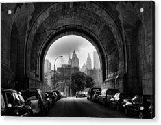 New York City - Manhattan Bridge - Under Acrylic Print