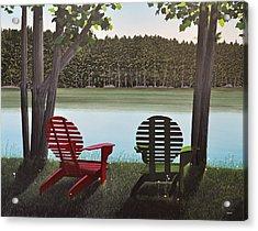Under Muskoka Trees Acrylic Print by Kenneth M  Kirsch