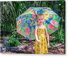 Acrylic Print featuring the photograph Under My Umbrella by Rob Sellers