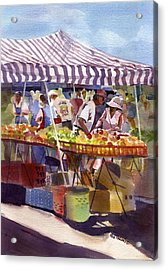 Under The Awning Acrylic Print