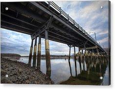 Under The Bridge Acrylic Print by Eric Gendron
