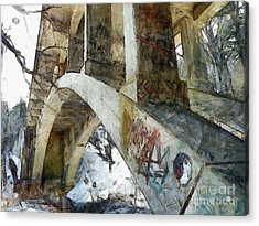 Under The Bridge  Acrylic Print by Janine Riley