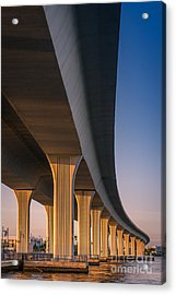 Under The Bridge Acrylic Print by Jola Martysz