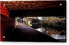 Under The Bridge Acrylic Print by Lina Jordaan