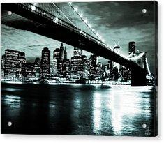 Under The Bridge Acrylic Print by Pennie  McCracken