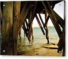 Under The Broke Dock Acrylic Print