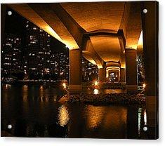 Under The Cambie Street Bridge Acrylic Print