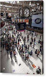 Under The Clock At Waterloo Station Concourse In London From A H Acrylic Print