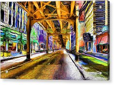Under The El - 20 Acrylic Print