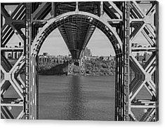 Under The George Washington Bridge Bw Acrylic Print