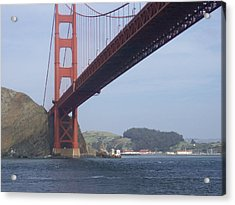 Under The Golden Gate - San Francisco Golden Gate Bridge 2006 - Scenic Photography - Ai P. Nilson Acrylic Print
