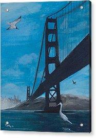 Under The Golden Gate Bridge Acrylic Print