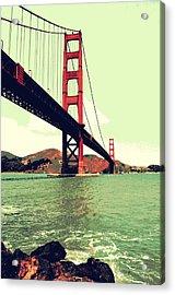 Under The Golden Gate Acrylic Print