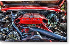Under The Hood Acrylic Print by Amanda Stadther
