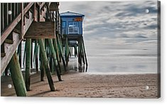 Under The Hurricane Raw Bar Acrylic Print by Guy Whiteley