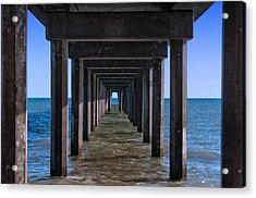 Under The Jetty Acrylic Print