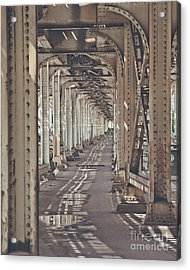 Under The L In Chicago Acrylic Print
