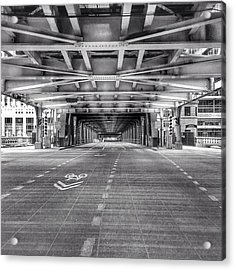 Chicago Wells Street Bridge Photo Acrylic Print by Paul Velgos