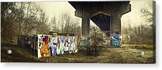 Under The Locust Street Bridge Acrylic Print by Scott Norris