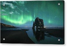 Under The Northern Lights Acrylic Print