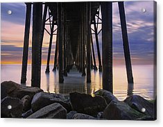 Under The Oceanside Pier Acrylic Print by Larry Marshall