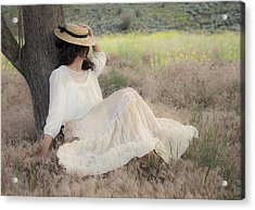 Under The Old Appletree Acrylic Print by Theresa Tahara