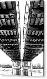 Under The Page Bridge Acrylic Print by Bill Tiepelman
