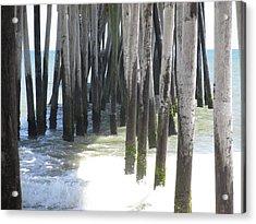 Under The Pier Acrylic Print by Cheryl Smith