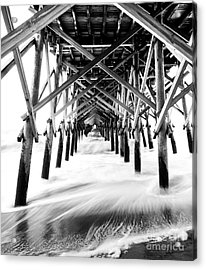 Under The Pier Folly Beach Acrylic Print