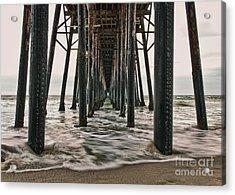 Under The Pier Acrylic Print by Eddie Yerkish