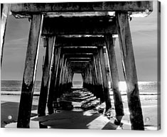 Acrylic Print featuring the photograph Under The Pier by Frank Bright