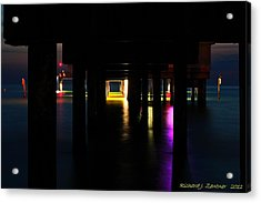 Acrylic Print featuring the photograph Under The Pier by Richard Zentner