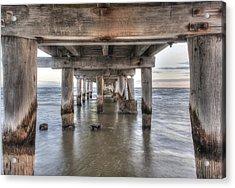 Under The Pier Acrylic Print by Shari Mattox