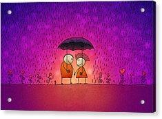 Under The Rain Acrylic Print by Gianfranco Weiss