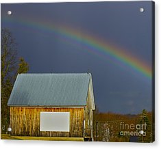 Acrylic Print featuring the photograph Under The Rainbow by Alice Mainville