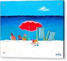 Under The Red Umbrella Acrylic Print