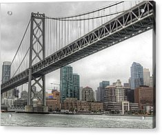 Under The San Francisco Bay Bridge Acrylic Print