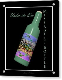 Under The Sea Message In A Bottle Acrylic Print by Betsy Knapp