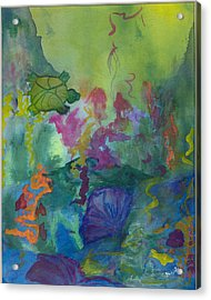 Under The Sea Acrylic Print by Phoenix Simpson