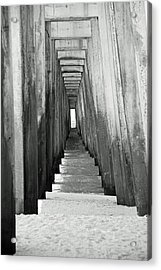 Under The The Pier Acrylic Print by Thomas Fouch