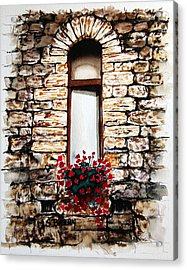 Under The Tuscan Sun Acrylic Print by Maria Barry