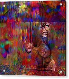 Under The Umbrella Acrylic Print by Jack Zulli