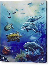 Under Water Antics Acrylic Print